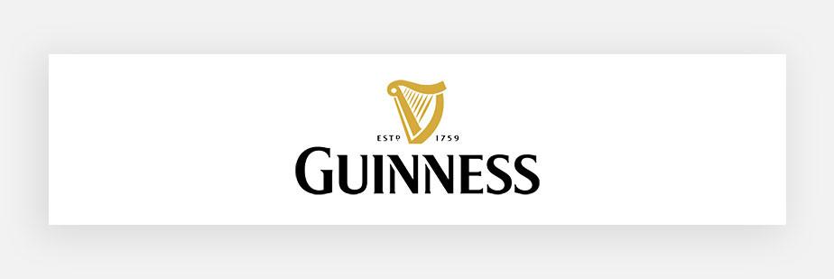Примеры известных логотипов: Guinness