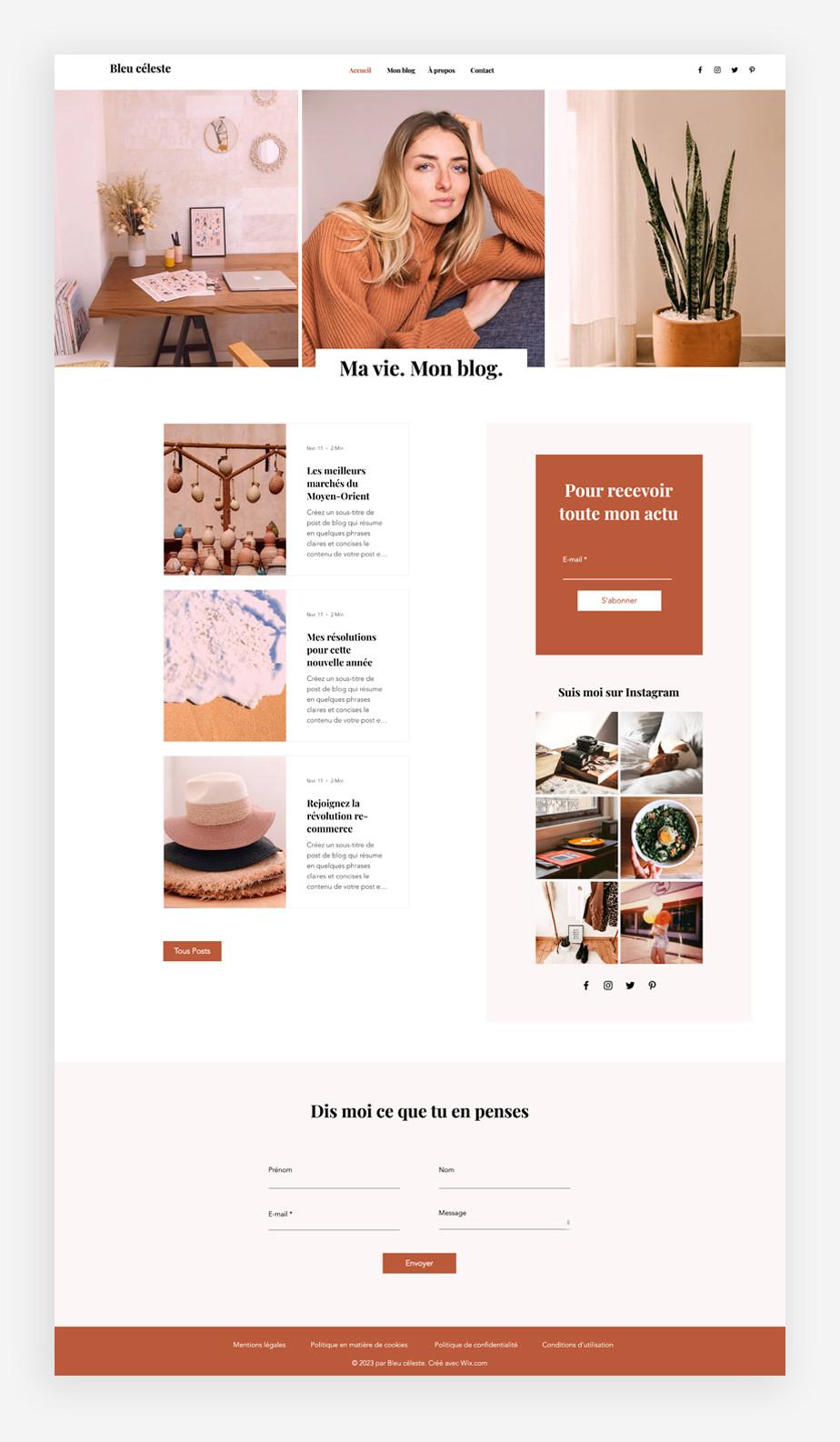 template de blog lifestyle