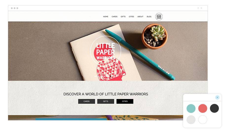 Página web wix de Little Paper Warriors