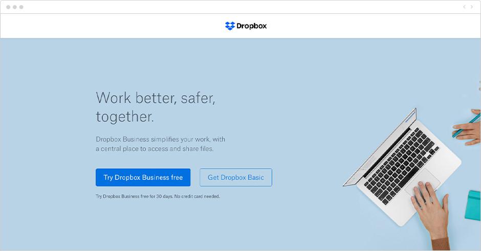 Приложение для тайм менеджмента: Dropbox