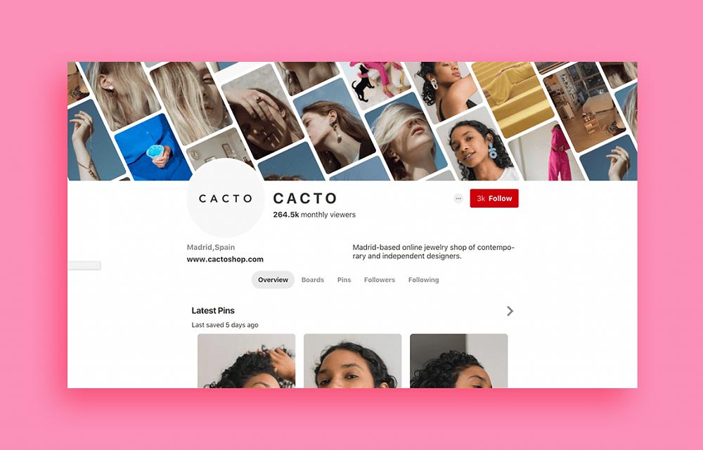 Cacto jewelry design shop on Pinterest