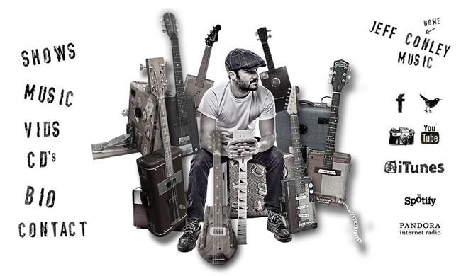 Page d'accueil du site Jeff Conley Band