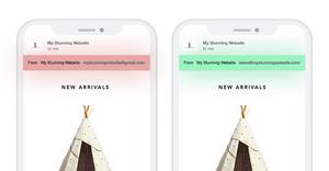 E-Mail-Adressen dargestellt auf 2 Smartphones im Vergleich. Eine ist personalisiert, die andere von Gmail.
