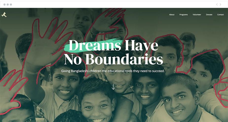 Dreams Have No Boundaries nonprofit website