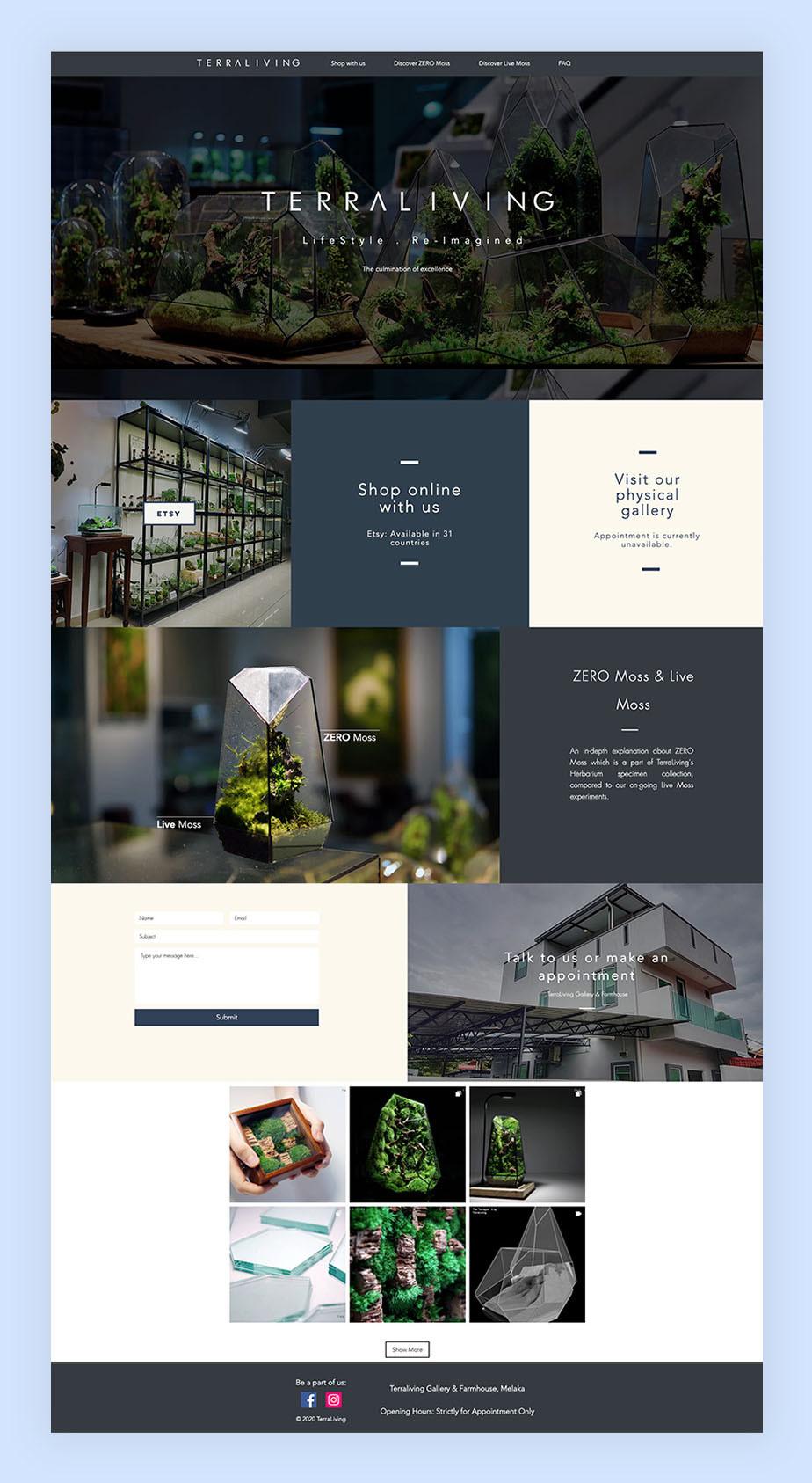 Terra Living een op een template gebaseerde website