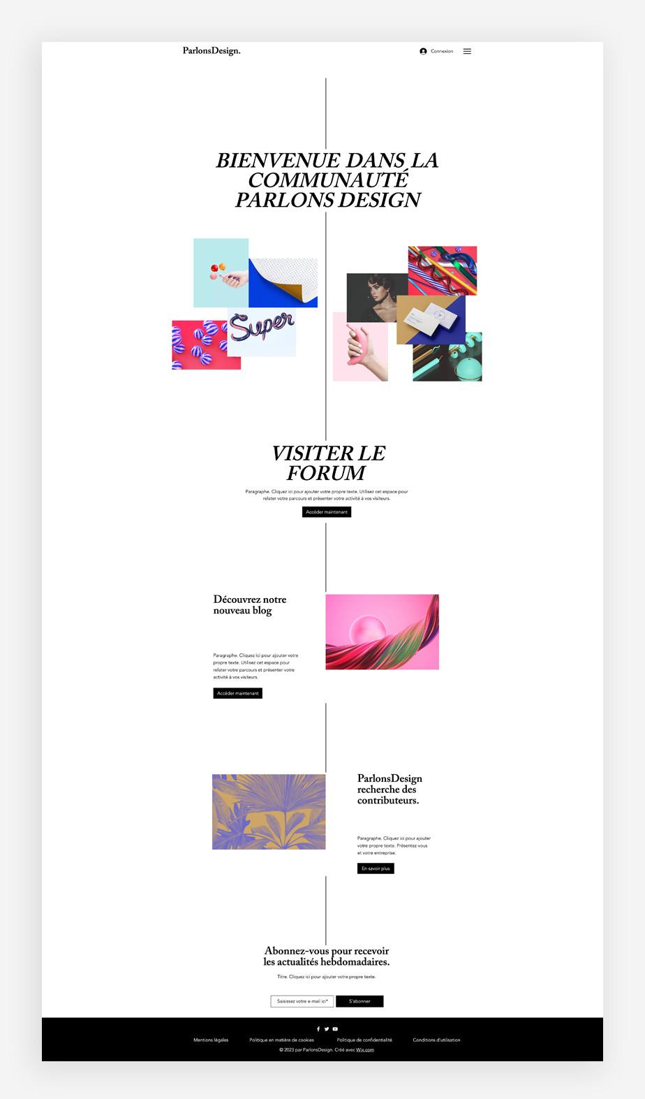 template de blog de designer