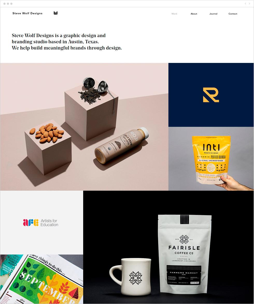 Design portfolio examples: Steve Wolf Designs