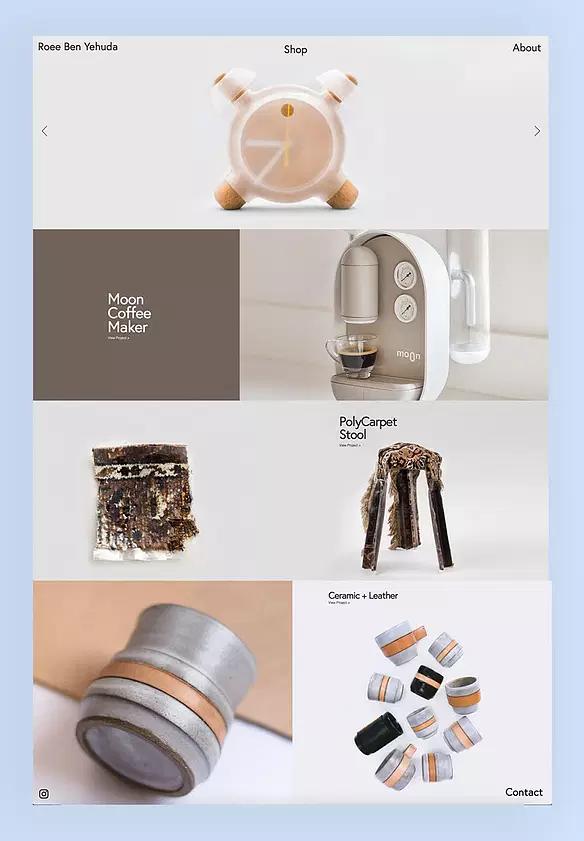Tienda online y portafolio de Roee Ben Yehuda