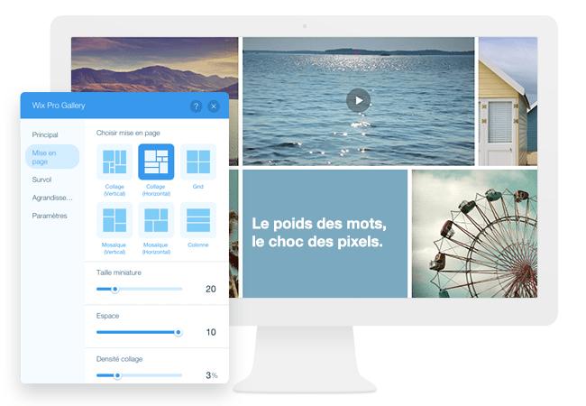 Wix pro Gallery customisation infinie