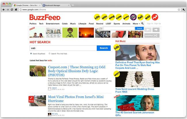 BuzzFeed скриншот