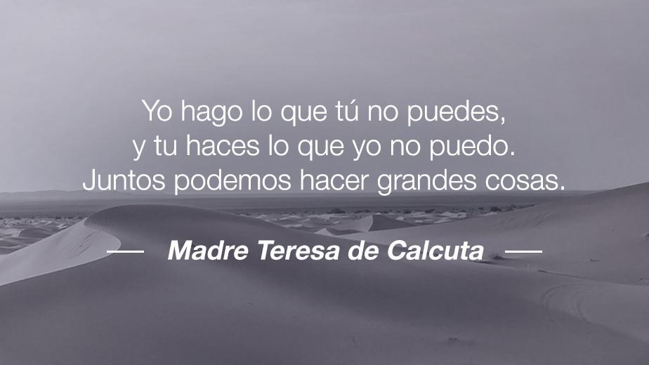 Frase de María Teresa de Calcuta