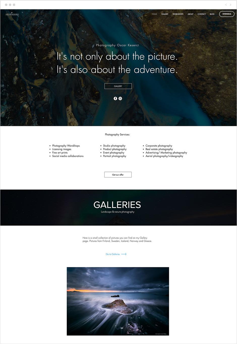 風景写真家サイト Oscar Keserci