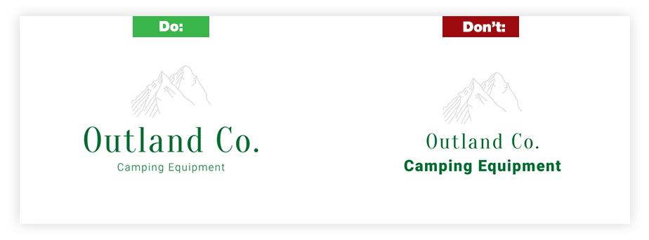 Ein Beispiel für ein gutes Logo und ein schlechtes Logo zum Thema Slogan und Tagline