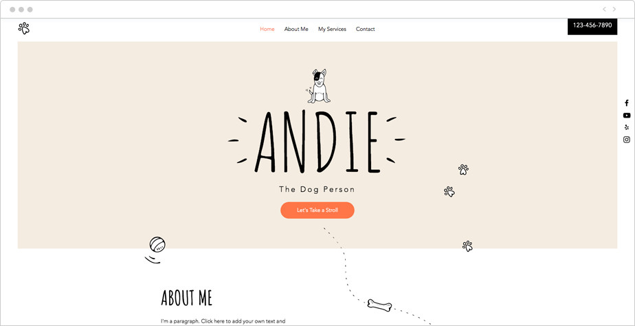pet sitter website template for home based business ideas