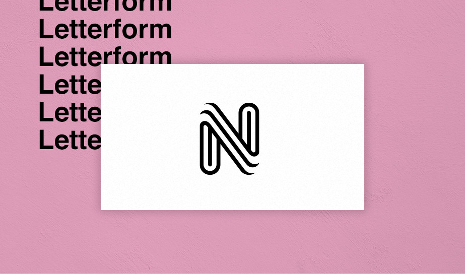 Letterform logo example