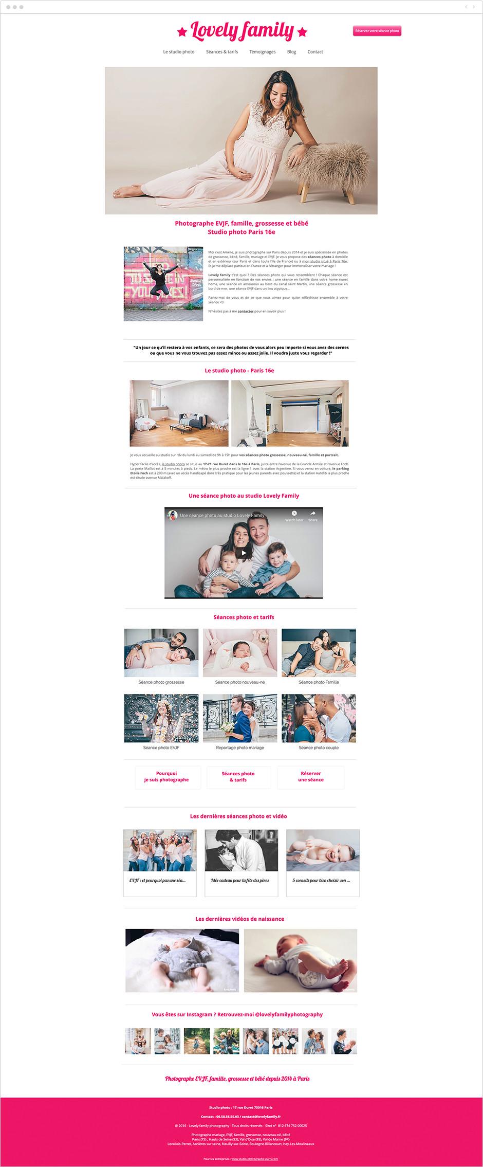 Référencement site Wix - Lovely Family