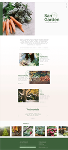 Farm to table venue website template