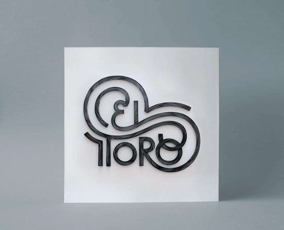 El toro hand lettering by Alia Bright