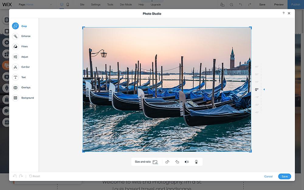 Foto von Fischerbooten welches im Wix Fotostudio bearbeitet wird