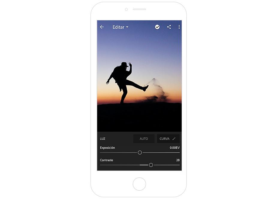 Imagen de pantalla de Lightroom de Adobe