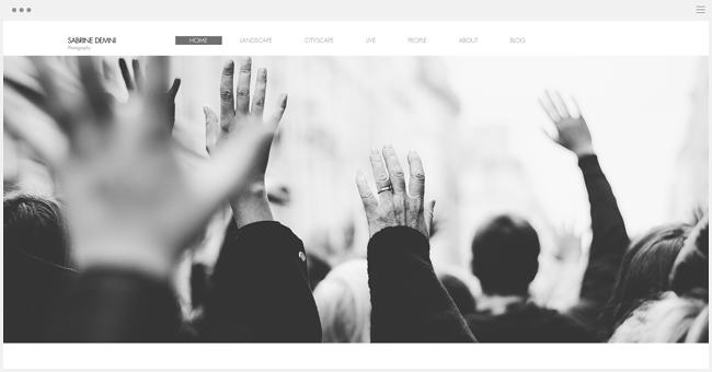 site photographie sabrine demni créé avec Wix