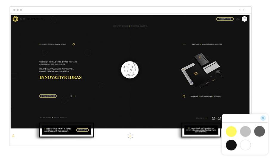 Shapeshift Wix website