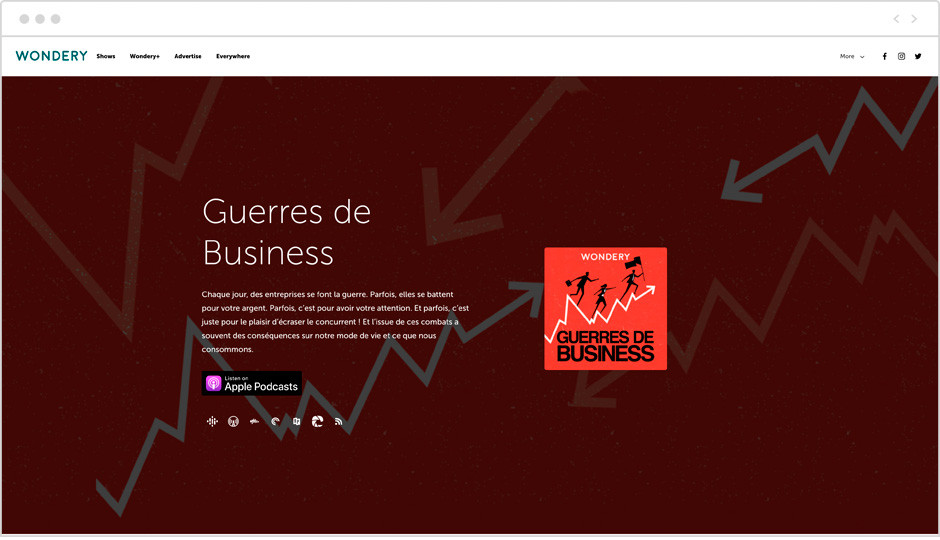 Les meilleurs podcasts français - Guerres de business