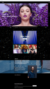 Wix music video director website template
