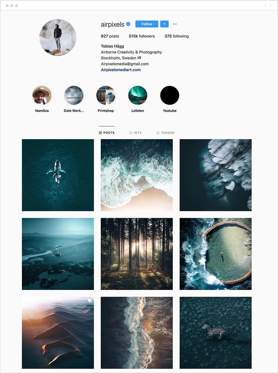 Photographes à suivre sur Instagram - Tobias Hägg