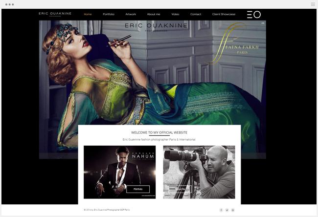 site photographie ouaknine créé avec Wix