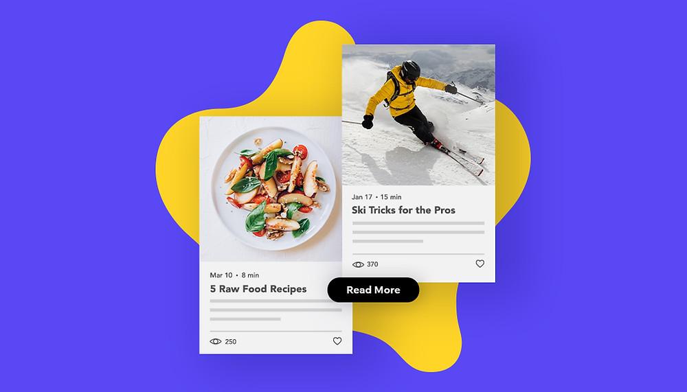 블로그 틈새 아이디어를 통한 음식 및 레저 스포츠 게시물의 이미지