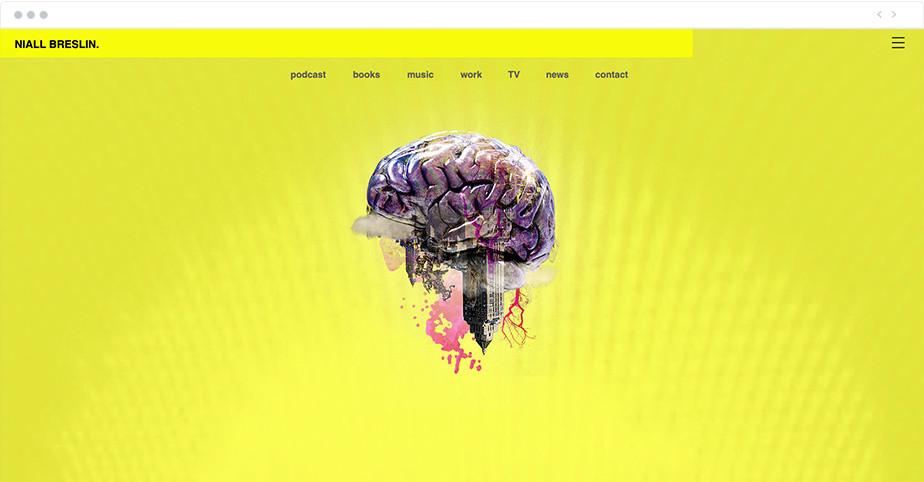 Página Web con imagen de un cerebro