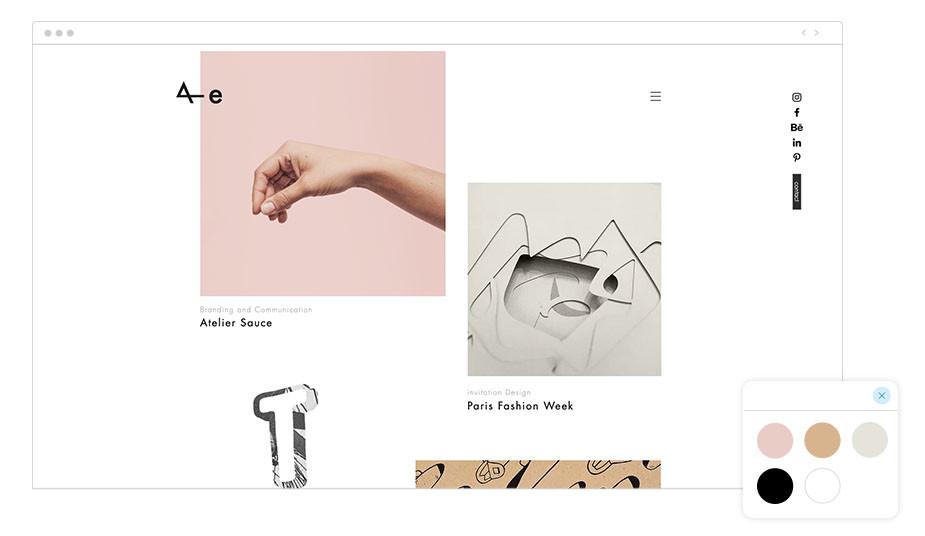 Página web wix de Anja Ellenberger