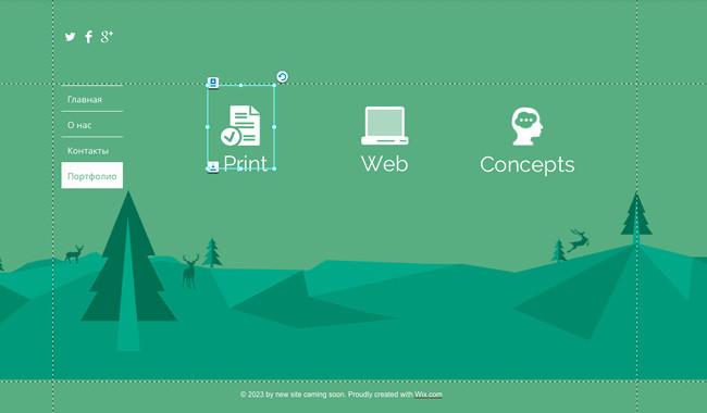 Плоский дизайн - использование иконок