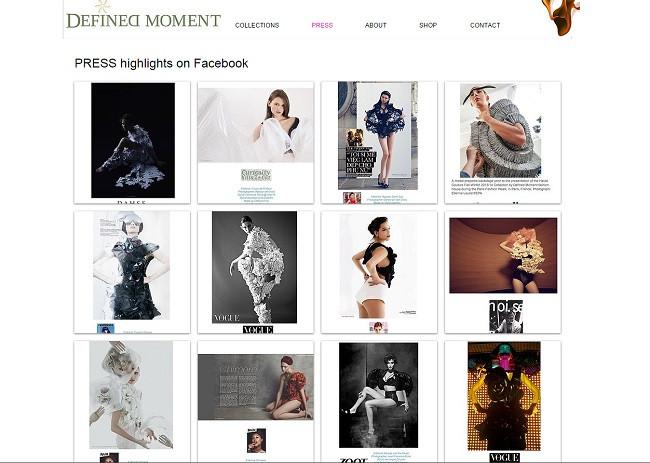 веб-сайт мода пресса