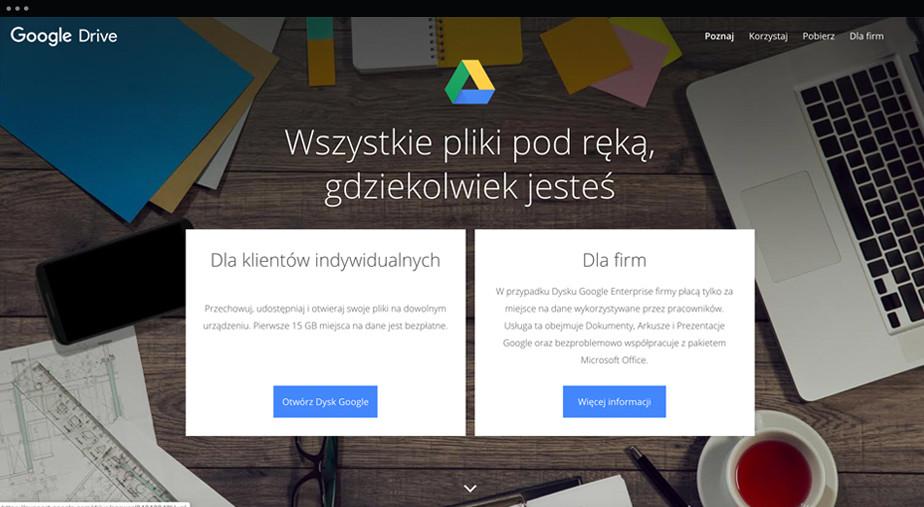 Dysk Google - narzędzie dla przechowywania plików