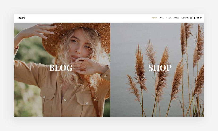 Beispiel für eine Komplexe Websites mit Blog und Online-Shop