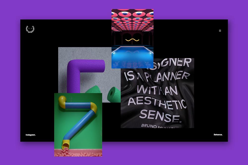 Esempio di home di sito di graphic designer