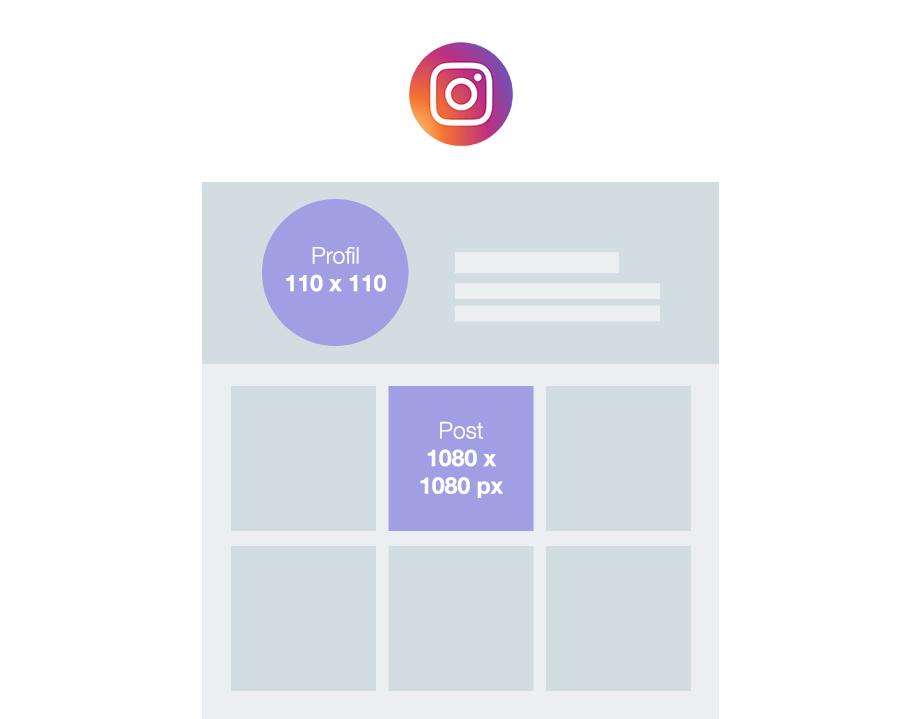 Taille des images sur Instagram