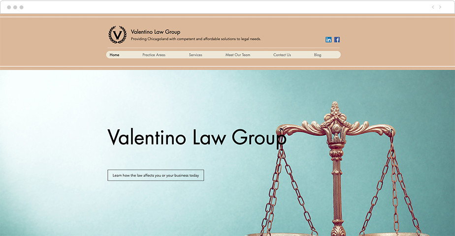 Best law firm websites Valentino Law Group
