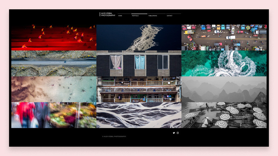 Alex Visbal portfolio site