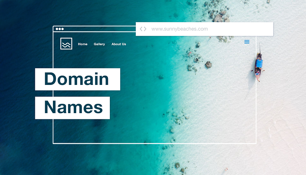 Domain Name Cost Example / Website with Boat and Coast