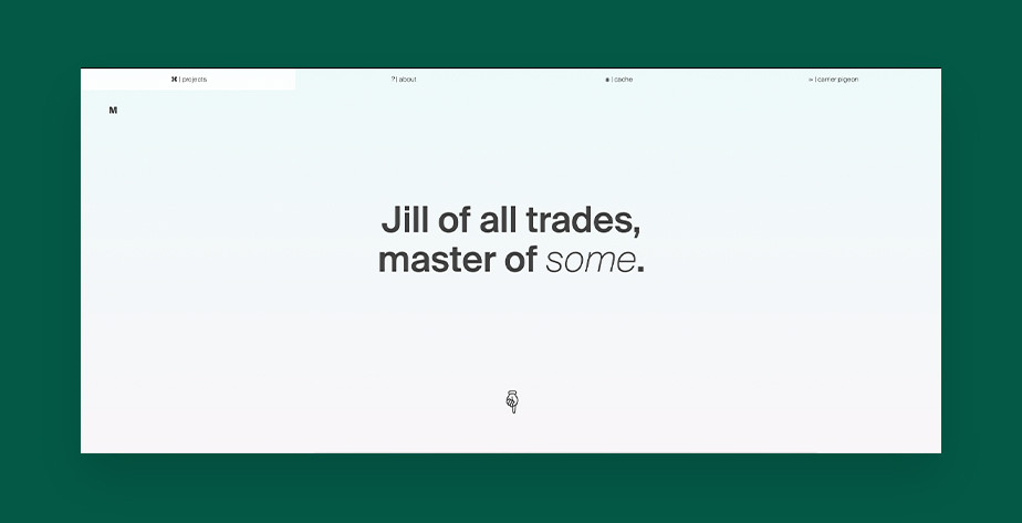 Przykład UX portfolio – Miki Twersky