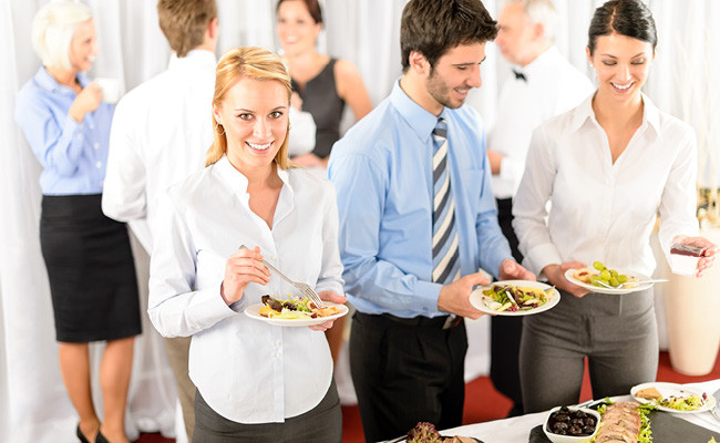 Клиенты на бизнес-мероприятии