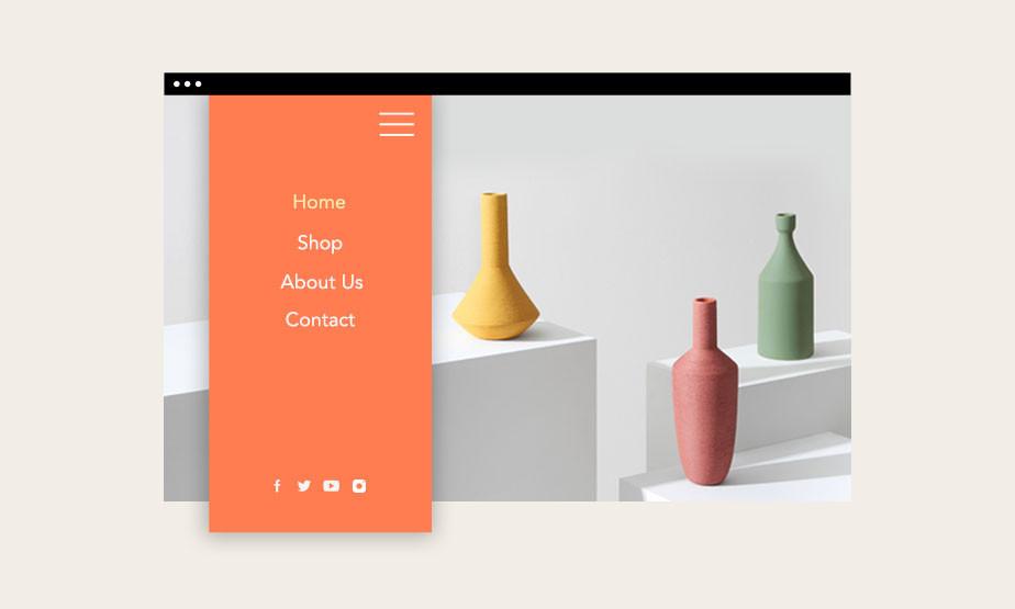 web sitesi kurma: tasarım - menüler