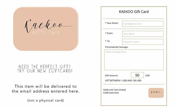 Esempio buono regalo Kaekoo