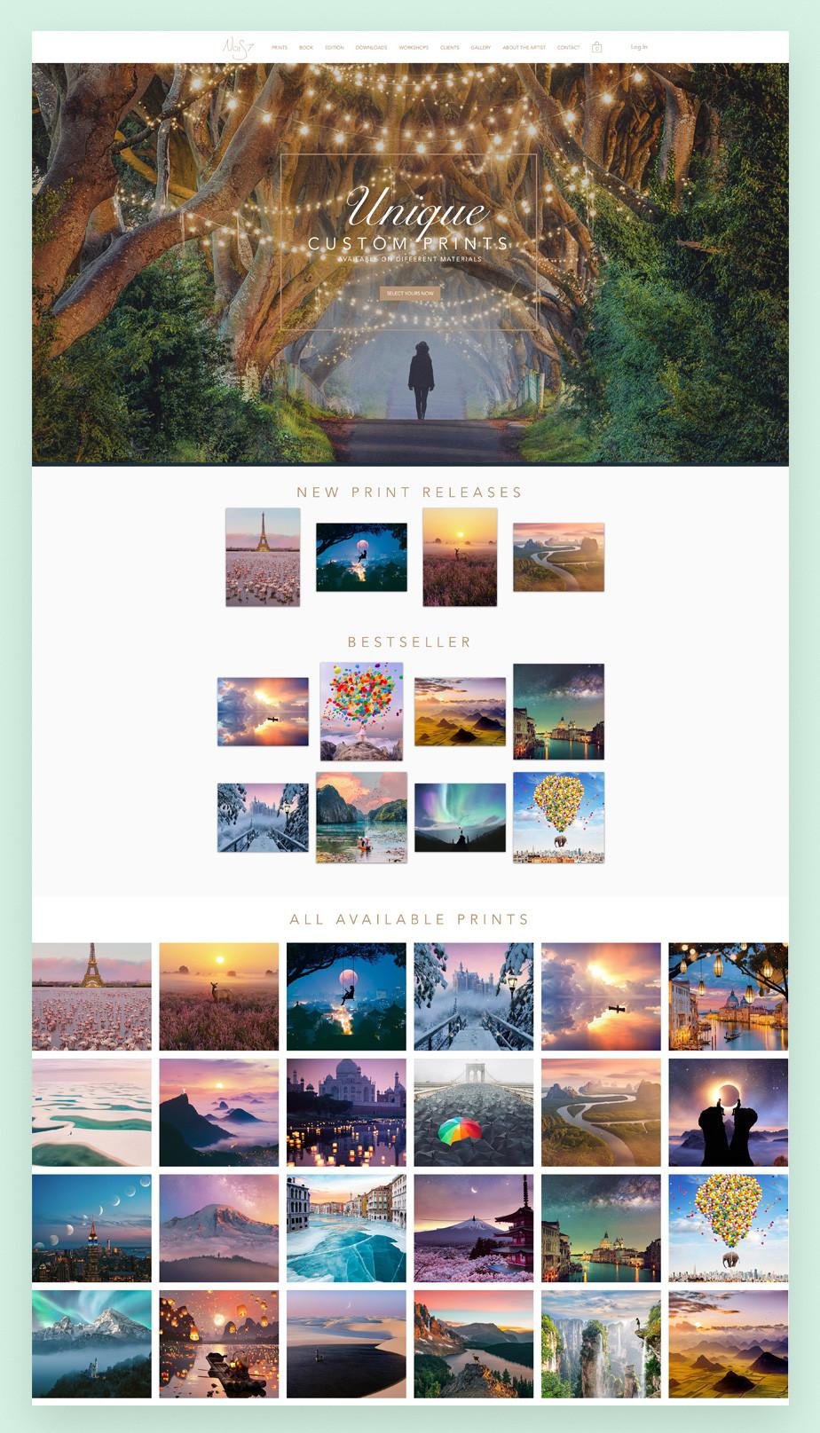 Screenshot do site de portfolio de fotografia Nois7.com