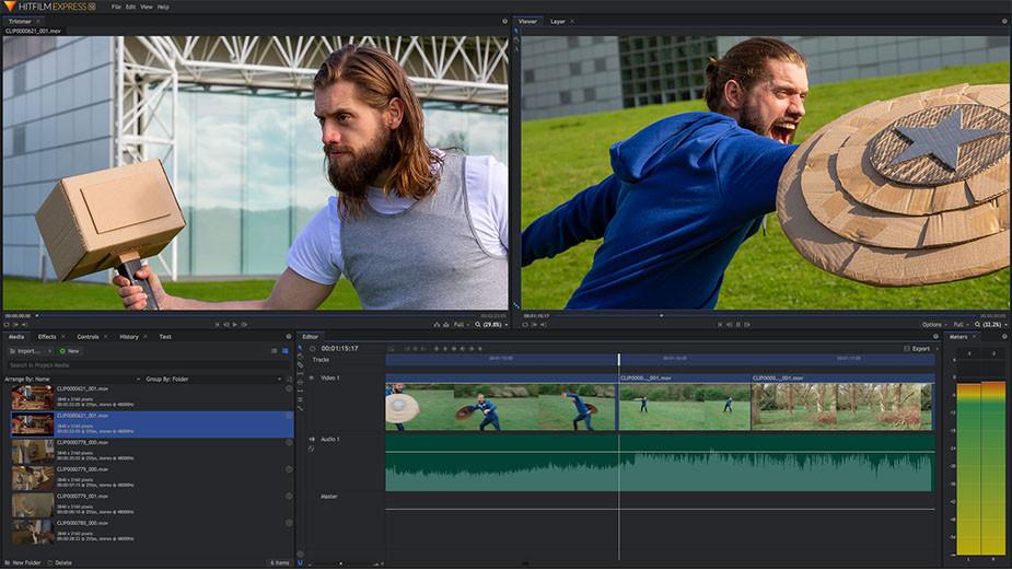 HitFilm Express najlepsze darmowe oprogramowanie do edycji wideo