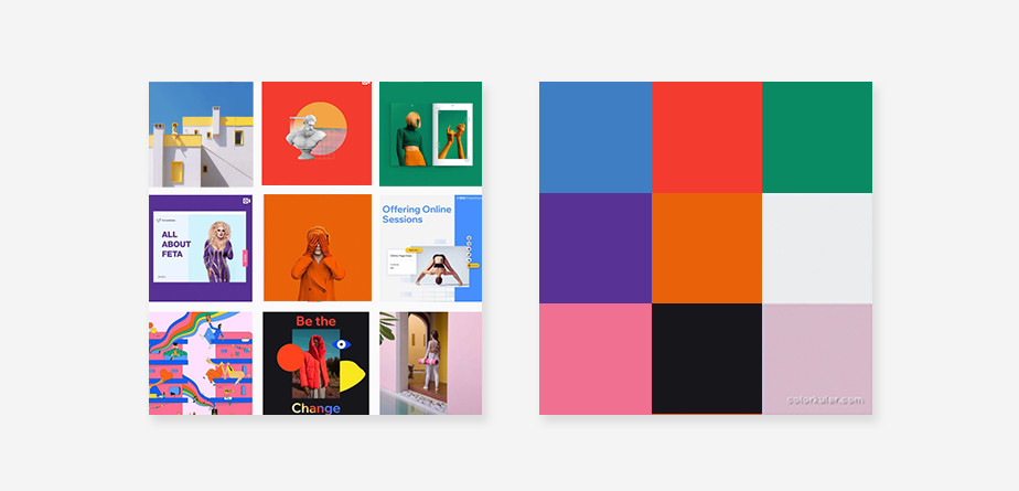 Free color palette generator by Colorkuler for Instagram feed