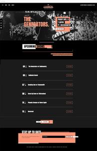 Music venue website template